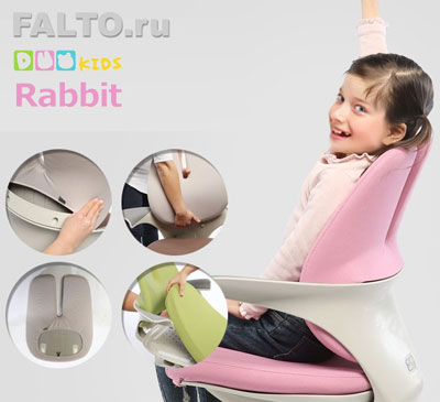 чистка кресла Duokids Rabbit